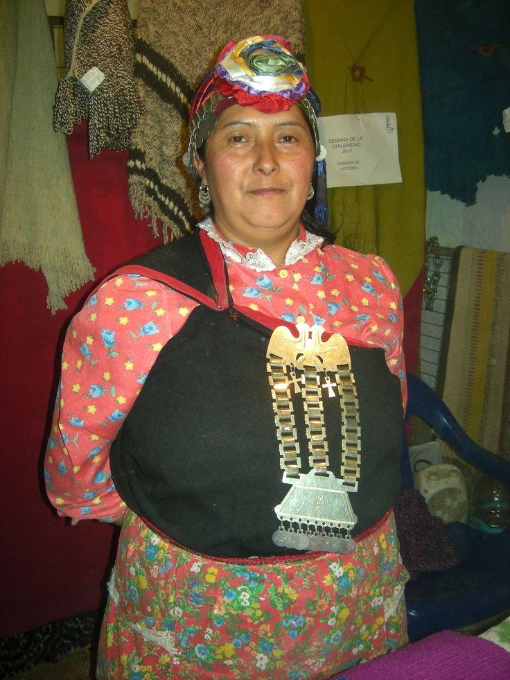 Proud Mapuche woman.