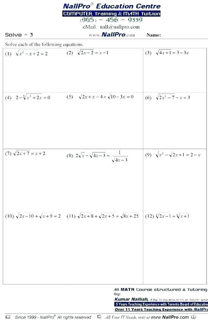 28 7th Grade Math Worksheets with Answer Key Pdf ...