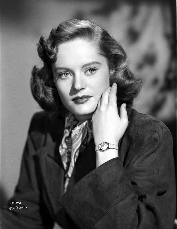 Alexis Smith Posed in Black Coat wearing a Wrist Watch High Quality Ph – Movie Star News