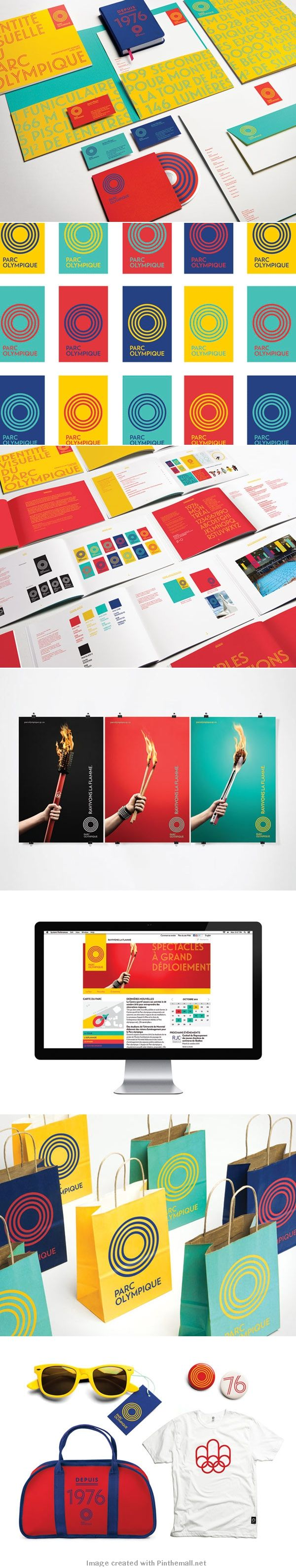 Montréal Olympic Park – New Visual Identity by lg2boutique