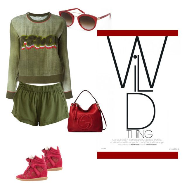 """""""Getting into the wildf"""" by lipe-1 on Polyvore featuring Barton Perreira, Gucci, Fendi and Isabel Marant"""