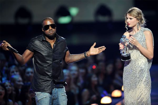 Kanye West controversially interrupts Taylor Swift on stage when receiving a VMA award. Surprising