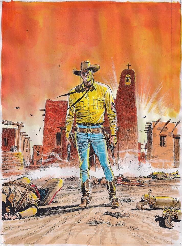 A capa de Tex nº 670 com as cores originais