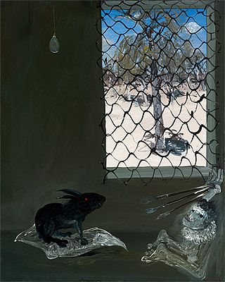 Arthur BOYD   Interior with black rabbit
