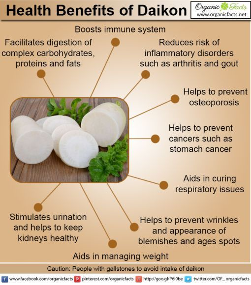daikon radish health benefits | NaturalHealth365