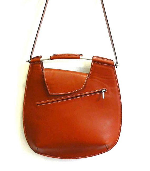 Tan leather Cross-body Messenger Bag