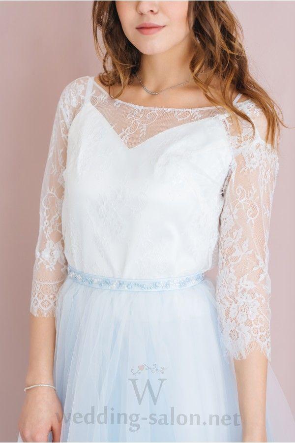Голубое свадебное платье в стиле бохо LANA (новая коллекция 2017)