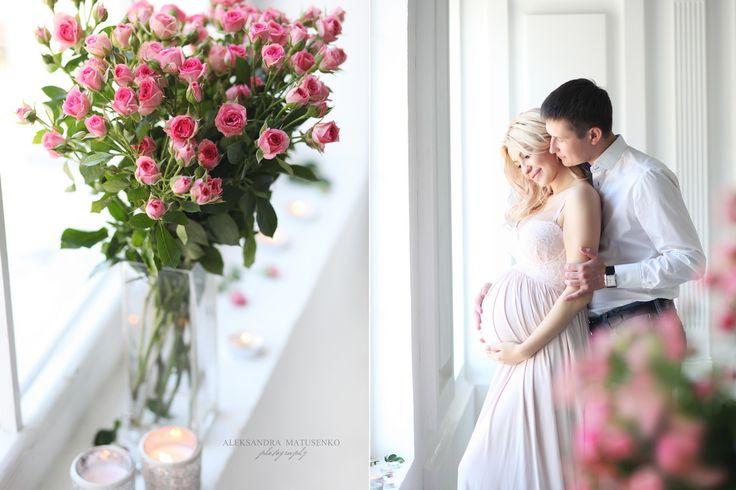 Колаж с фотосессия беременности с мужем