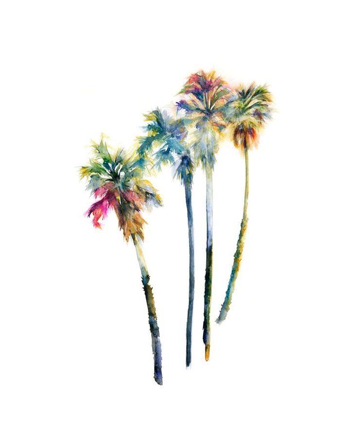 Bildergebnis für watercolor tattoo palm tree