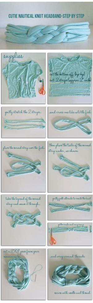 Instructions: DIY   Knot Headband by Brenda Everett-Eichhorn