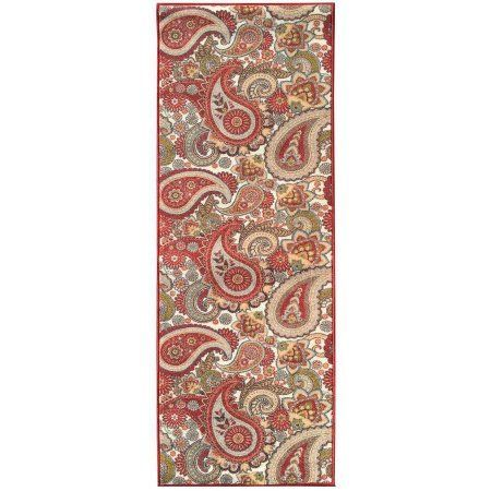 Sweet Home Stores Sweet Home Collection Paisley Design Cream Indoor & Kitchen Runner Rug, Beige