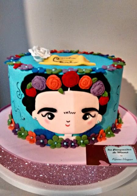 "Torta de ""Frida Kahlo"" │""Frida Kahlo"" cake - inspirada de la web (creditos a quien corresponda) │ inspired by the web ( credits to the appropriate )"
