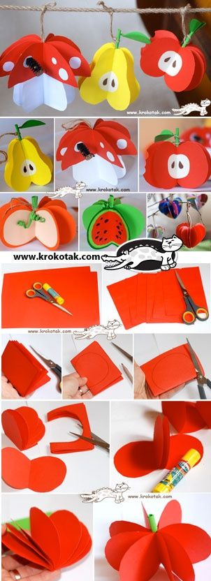 Easy paper fruit!!