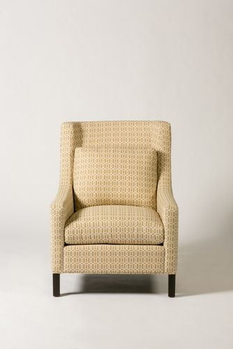 Elegantly contoured back. Comfortable. White waterfowl feather back is standard. Gresham House Furniture » 7157