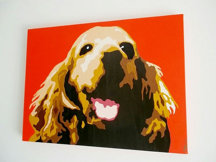 DOG PAINTS FROM.YOUR OWN.IMAGES PET