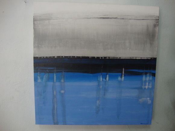 Tela pintada com tinta acrílica, pintura abstrata. R$ 120,00