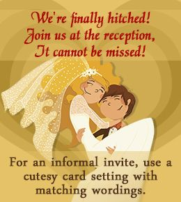 Wedding Invitation Wordings for Reception Only