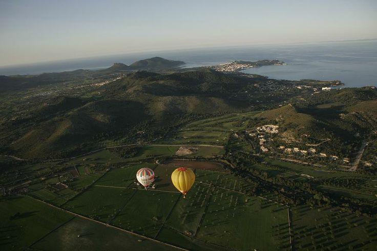 Flying Mallorca and looking to menorca. It's IB Ballooning!!