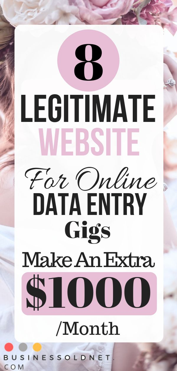 8 Legitimate Website For Online Data Entry Gigs Make An Extra $1000 /Month From Home