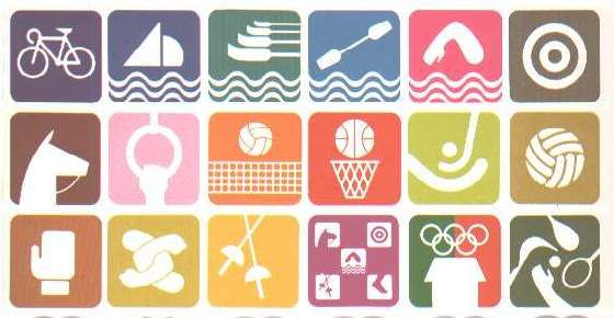 © 1969,  Organizing Committee of the Games of the XIX Olympiad, MEXICO 68  - In order to minimize language problems, these pictograms were present for the 1968 Mexico City Olympics.