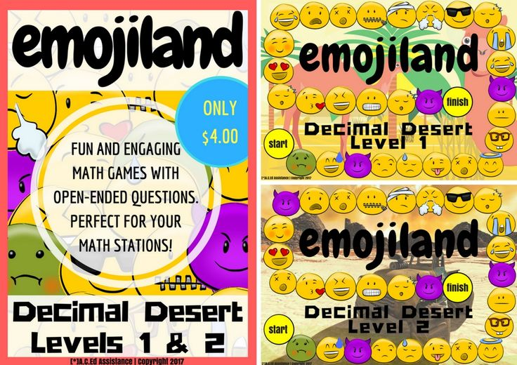 MATHEMATICS: emojiland - Decimal Desert Math GameThe emoji craze has hit again with the new release of 'The Emoji Movie.' This game has been a massive hit, and one that has been enjoyed by students from...