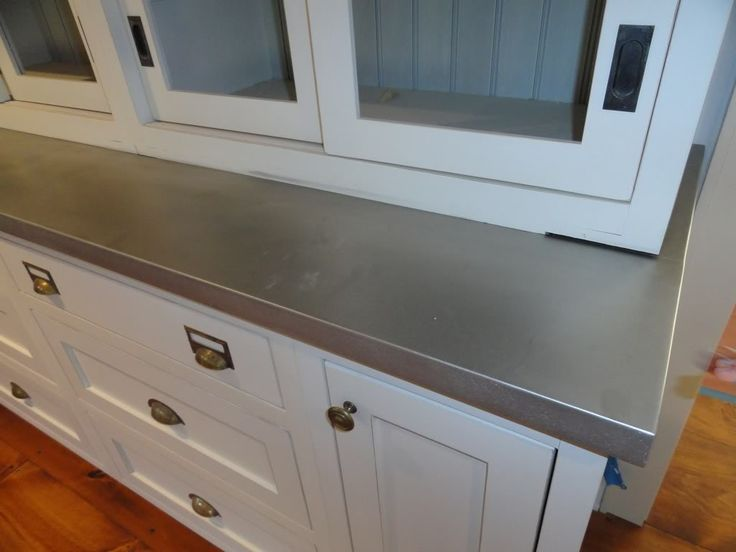 zinc countertops Lough Residence Pinterest