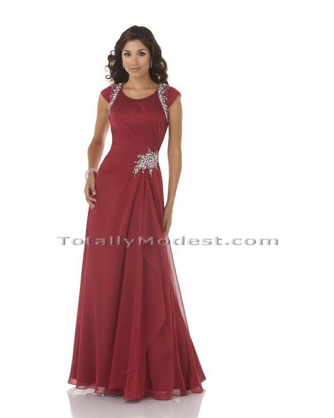 Bev Totally Modest WEDDING dresses, PROM & Bridesmaid dresses w/ sleeves