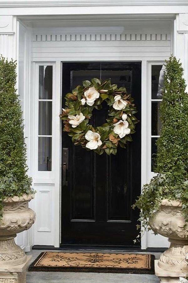 Magnolia Wreath For Front Doors Magnolia Wreath Porch