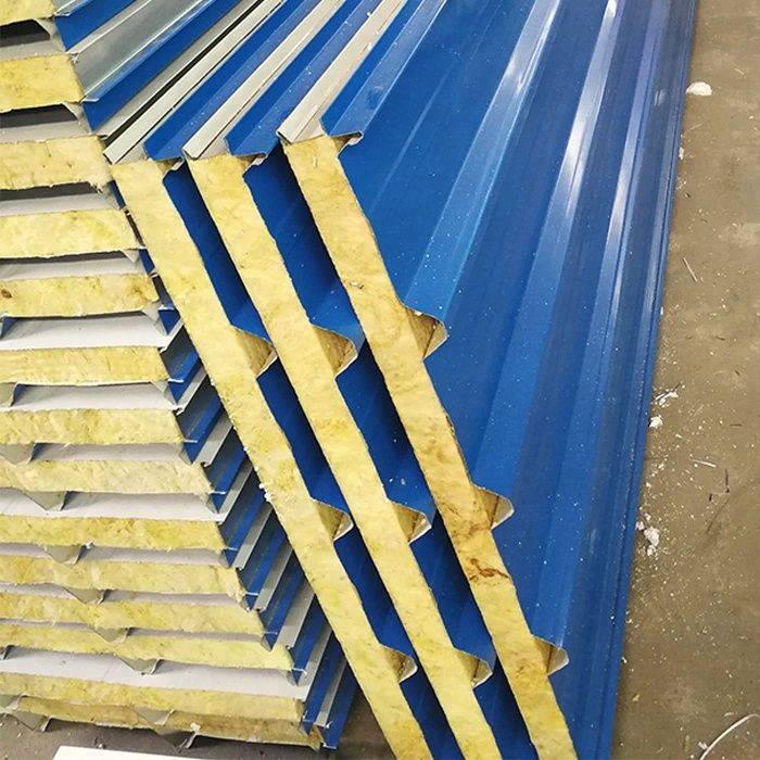 Prefab Homes Mineral Wool Sandwich Panel Roofing Sheet Price List In Sri Lanka Roof Cladding Barn Style House Roof Insulation