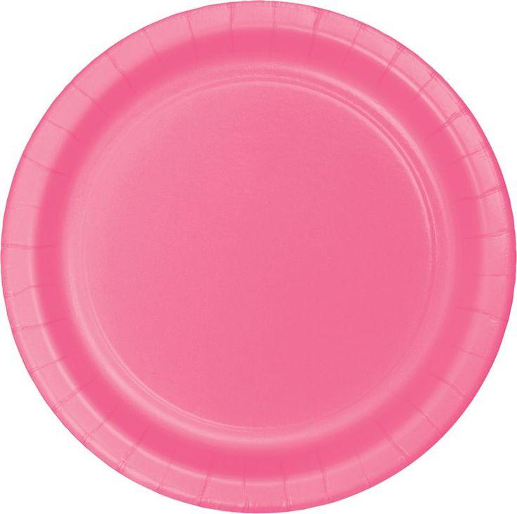 Medium Pink Dinner Plates (8 count)