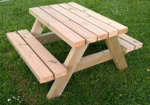 Very cute infact / child's Picnic Bench - From Sustainable Furniture only £160!  http://www.sustainable-furniture.co.uk/picnic-benches-and-picnic-tables/infants-picnic-bench/prod_337.html
