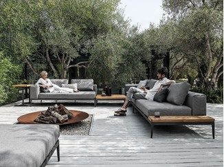 Sofá composable para jardín GRID | Sofá - Gloster