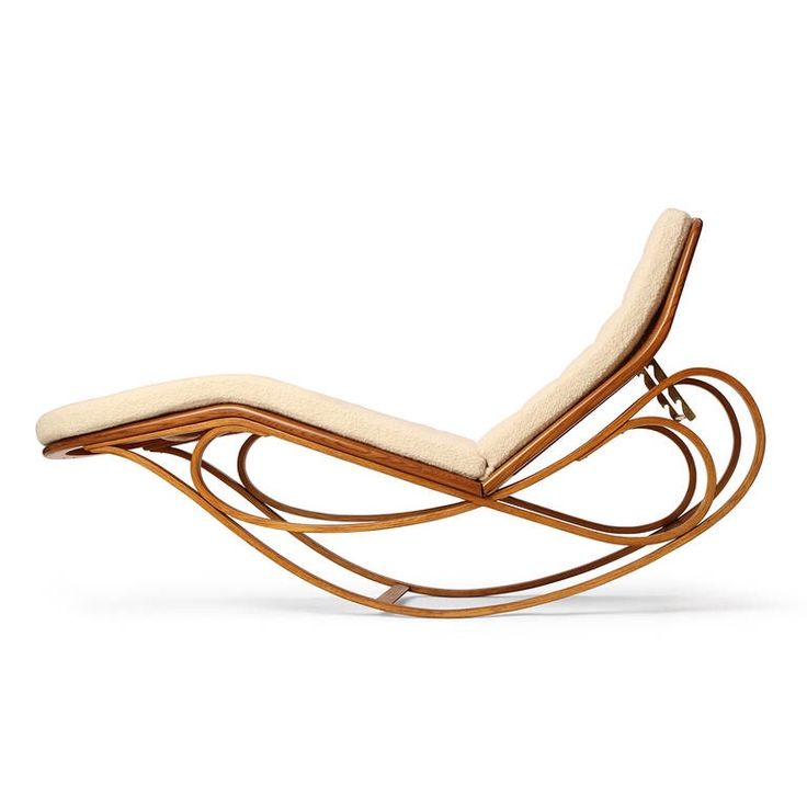 autrefoisacquitRocking Chaise Longue by Edward Wormley - A highly expressive rocking chaise longue formed from scrolling bent bleached walnut woven cane ...  sc 1 st  Pinterest : cane chaise - Sectionals, Sofas & Couches