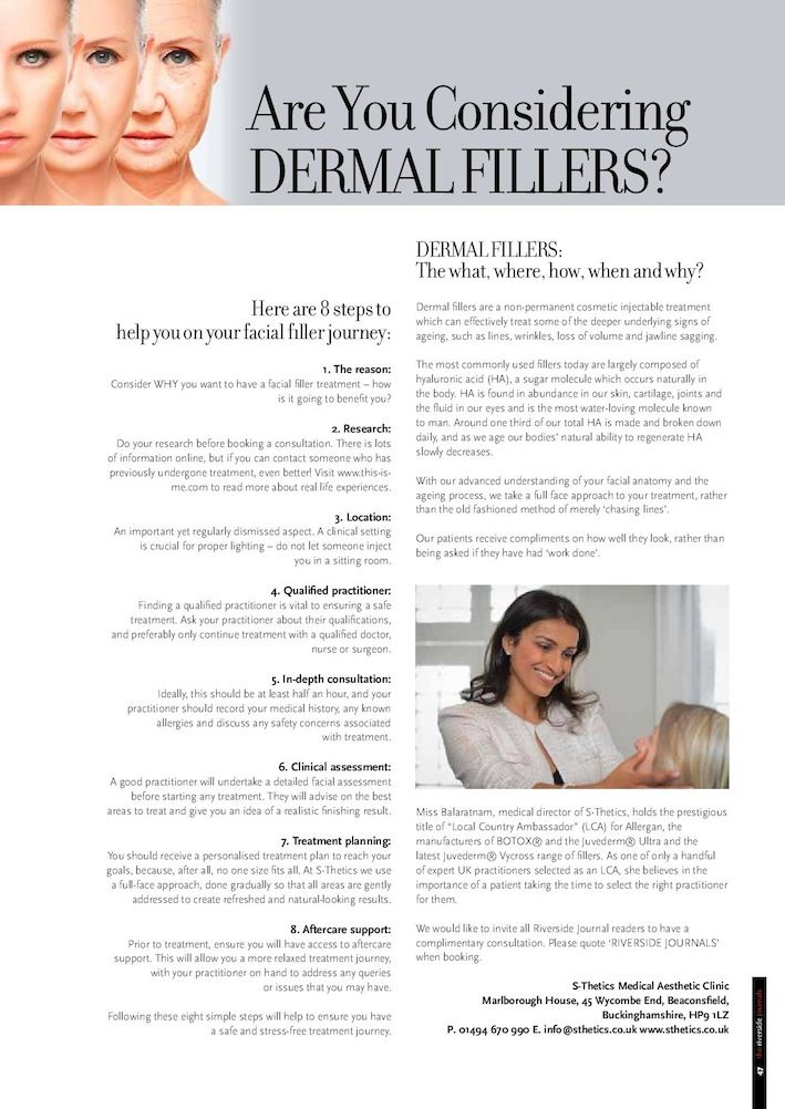 S-Thetics advice for considering dermal filler treatments | s-thetics