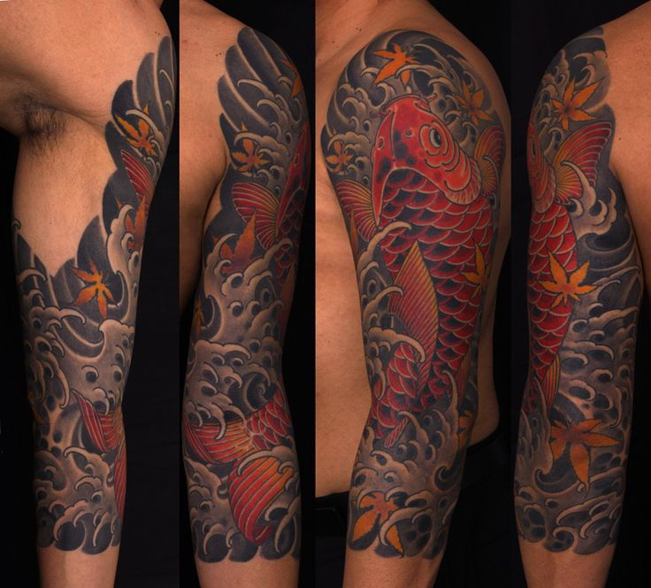 Japanese Style Sleeve Tattoo Flowers Koi Samurai: Best 25+ Koi Tattoo Sleeve Ideas On Pinterest