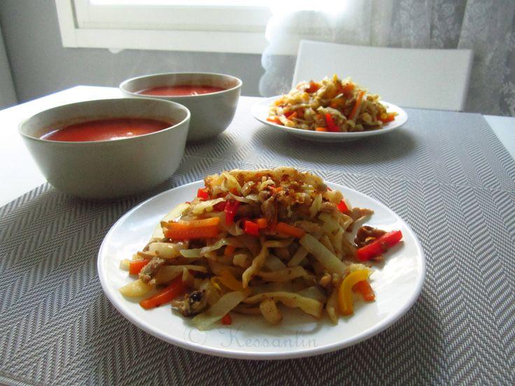 Recipe 6 & 7 - Tsuivan (Mongolian Handmade Noodle) & ABC soup.