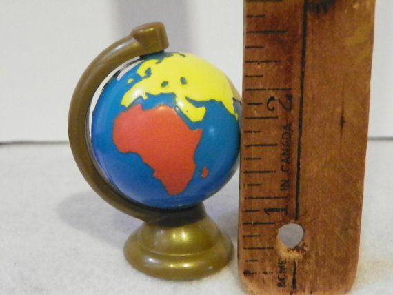 Vintage Fisher Price Loving Family Dollhouse Globe  Miniature
