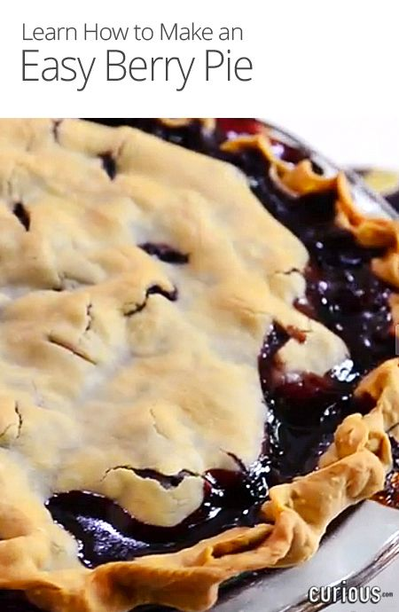 Rebecca Brand shows how to make a mixed Berry Pie in the simplest way - so in only a five minute prep time, you'll have a beautiful and tasty homemade pie.