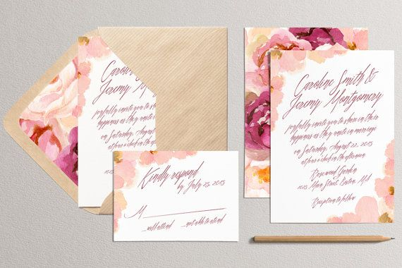 Invito a nozze stampabile e invito a nozze RSVP Card  di plpapers