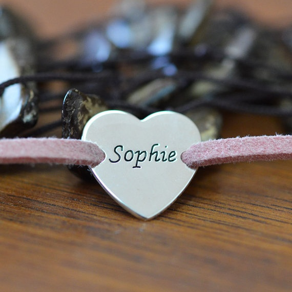 Suede Wrap Bracelet with a Personalized Disc