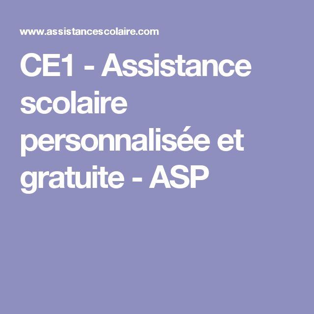 CE1 - Assistance scolaire personnalisée et gratuite - ASP