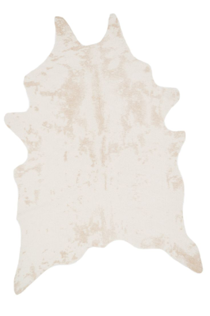 Snow White Faux Cowhide Rug 5x6'6""