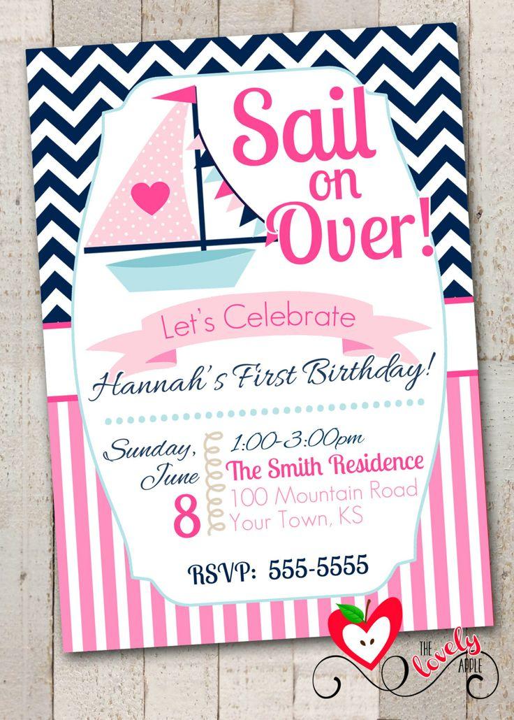 Nautical Birthday Girl Invitation Printable by thelovelyapple, $15.00