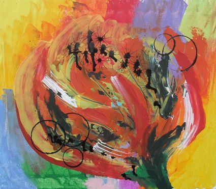 Le soleil est là, le printemps arrive à grands pas et la Nature m'a inspiré une grande tulipe jaune qui ploie sous la brise ... Dimensions : 46x54 cm Tarif : 150 € HT (hors frais de livraison)