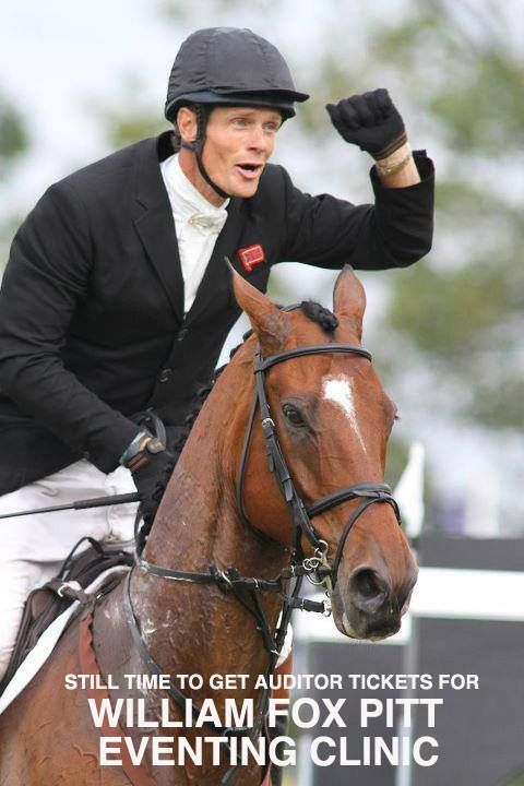 STILL TIME TO GET AUDITOR TICKETS FOR WILLIAM FOX PITT - EVENTING CLINIC AT: ALLIANT ENERGY CENTER - MADISON WISCONSIN  #EVENTINGCLINIC, #WILLIAMFOXPITT
