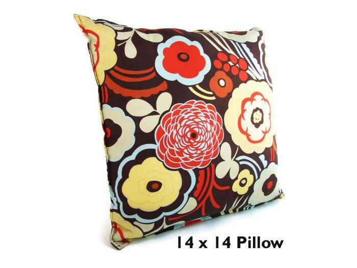 Brown Floral Throw Pillow : 260 best DECOR images on Pinterest Cushion covers, Pillow case dresses and Pillow shams