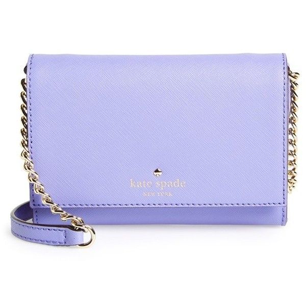 kate spade new york 'cedar street - cami' crossbody bag found on Polyvore featuring bags, handbags, shoulder bags, thistle, leather handbags, kate spade handbag, chain shoulder bag, leather crossbody handbags and leather shoulder bag