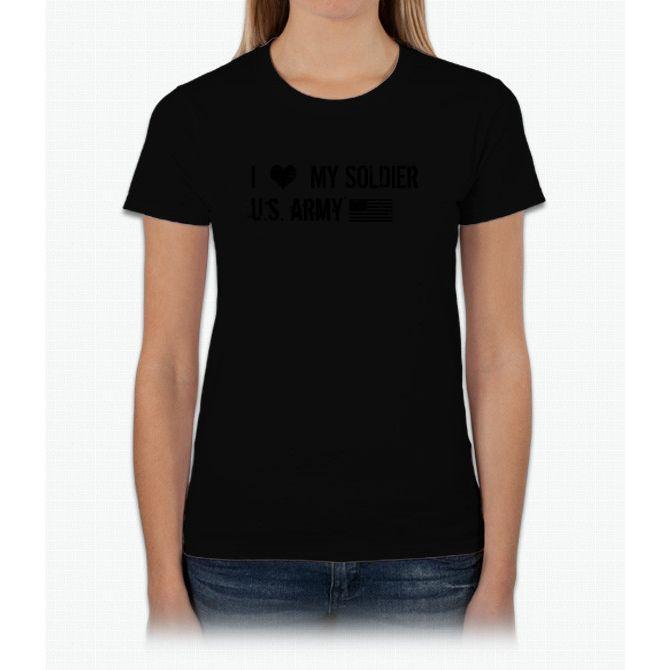 U.s. Army I Love My Long Sleeve Maternity Womens T-Shirt