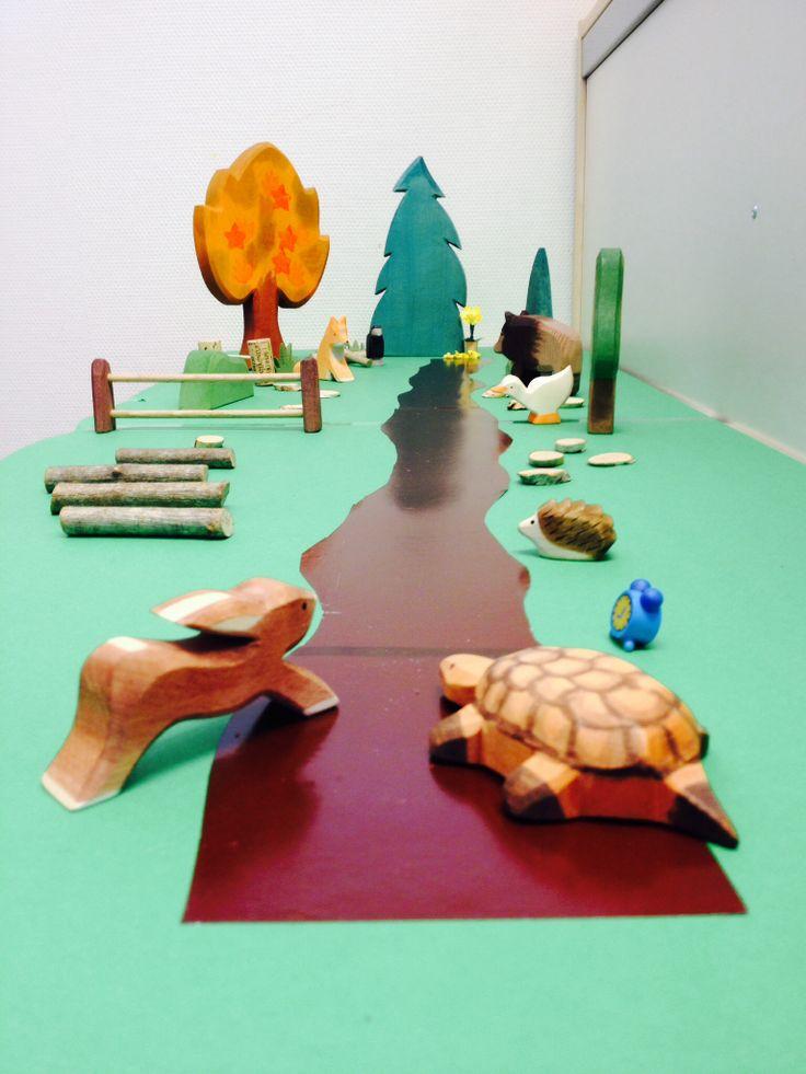 Verteltafel bij het boek: De wedstrijd van Schildpad en Haas