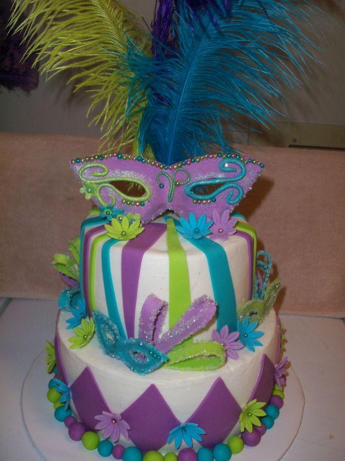 Masquerade Mask Cake Decorations Extraordinary 12 Edible Decorations